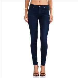 7FAMK》7 For All Mankind Skinny Fit Blue Jeans 25